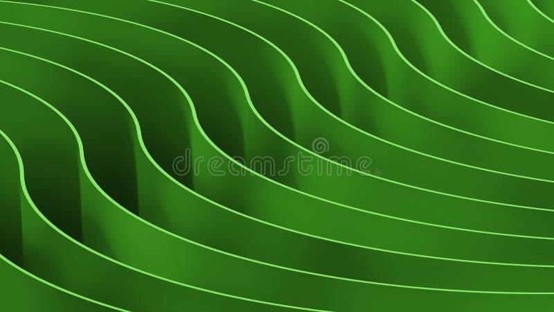 3d koloru abstrakcjonistyczny tło Drewniane fala i krzywy ilustracji