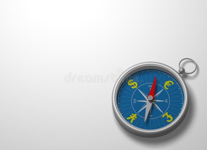 3d kompas ilustracja wektor
