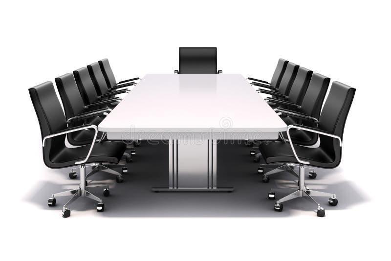 3d konferencyjny stół i krzesła ilustracji
