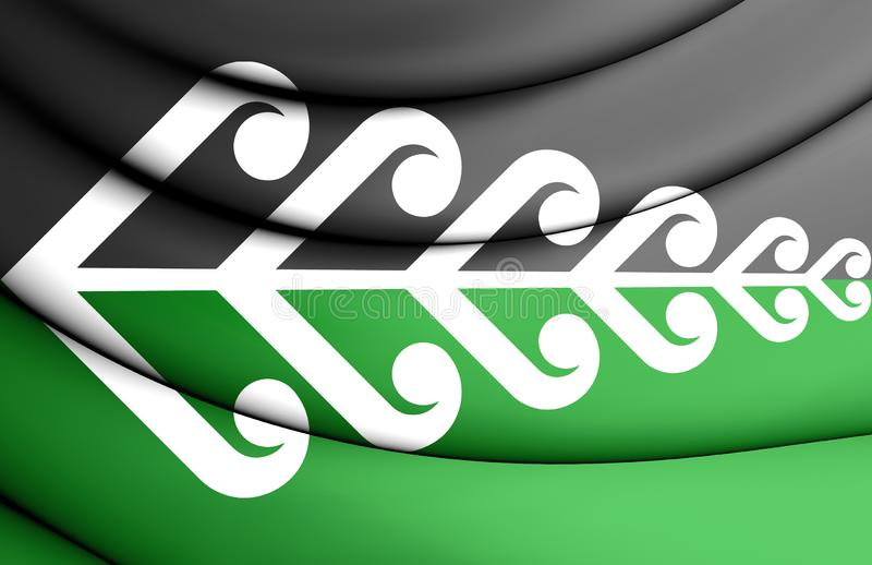 3D Koru Fern Flag, Nueva Zelanda libre illustration
