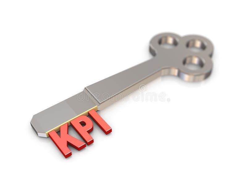 3d kpi word key royalty free illustration