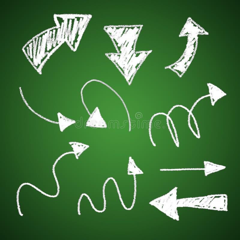 3d krijtpijlen stock illustratie