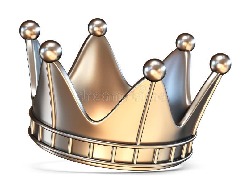 3D kroon stock illustratie