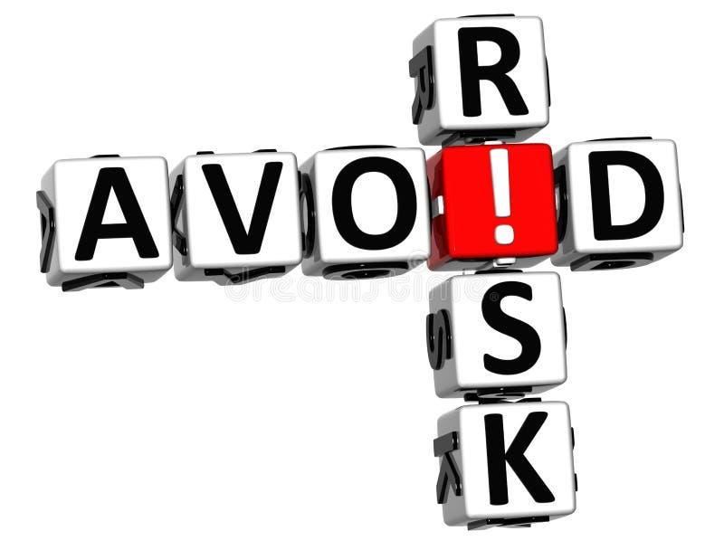 3D Kruiswoordraadsel van het Kredietrisico stock illustratie