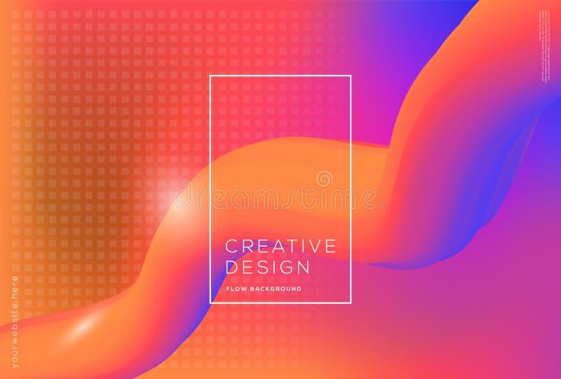 3d kształtów spływowy dynamiczny skład z gradientowym koloru tłem zdjęcie royalty free