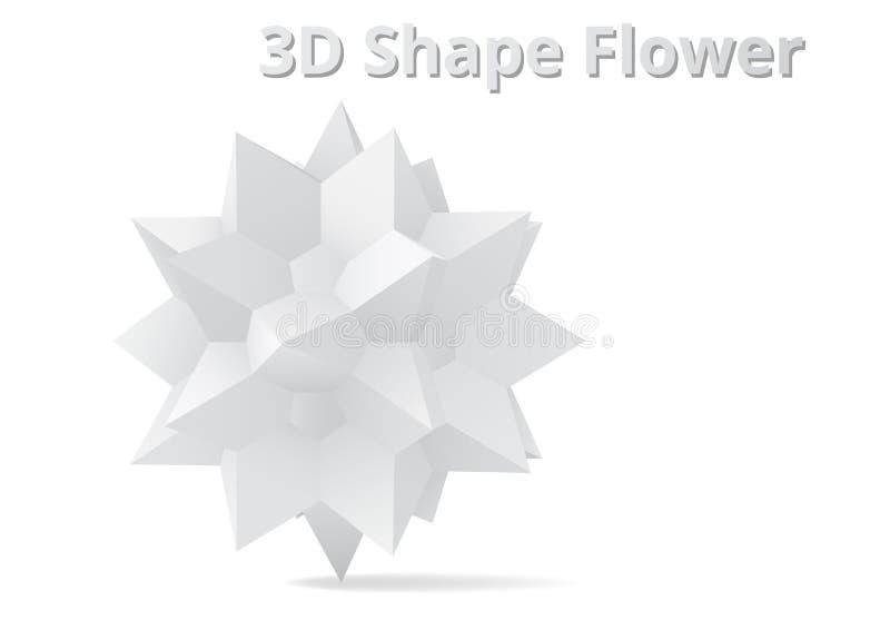 3D kształta kwiat royalty ilustracja