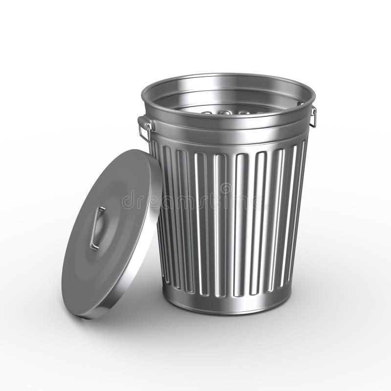 3d kubeł na śmieci kosz z pokrywą ilustracji
