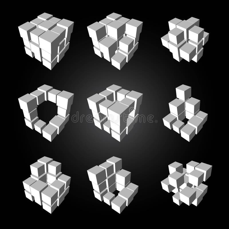 3d kubiczny royalty ilustracja