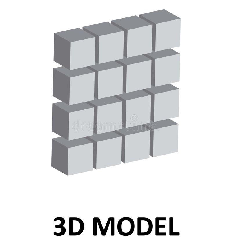 3D Kubussen Geïsoleerde Pictogram van de Kleuren Vectorillustratie vector illustratie