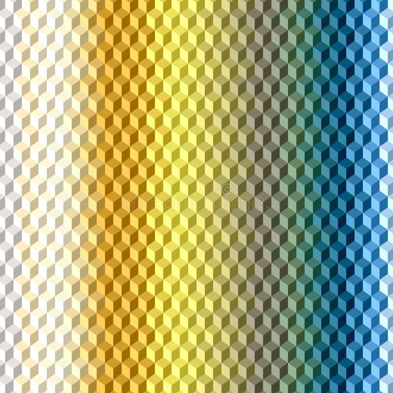 3D kubussenachtergrond vector illustratie
