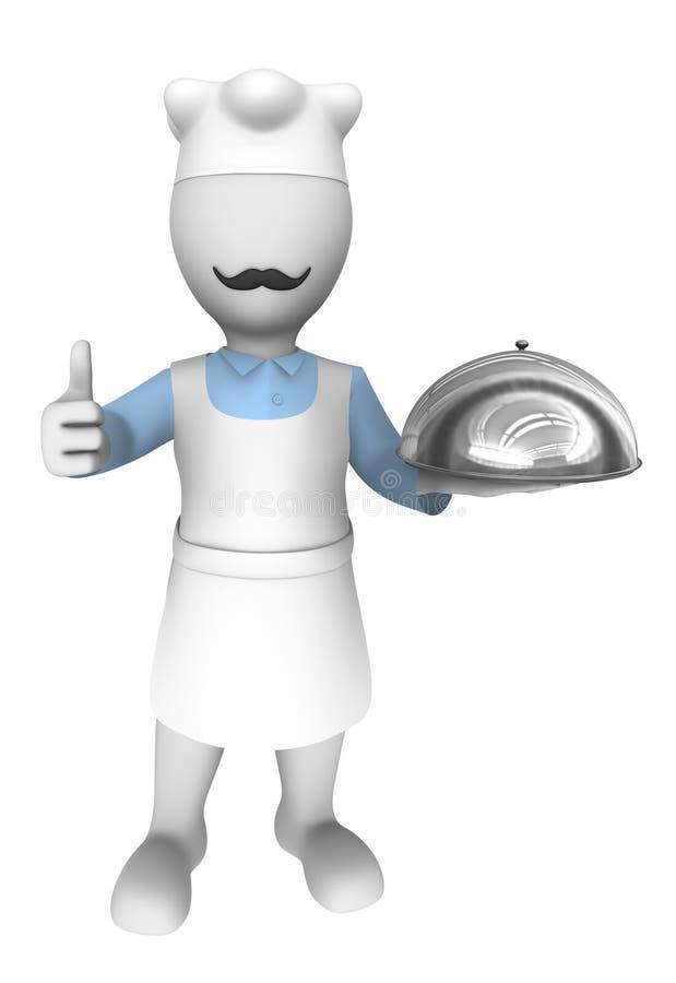 3d kucharz gest aprobaty royalty ilustracja