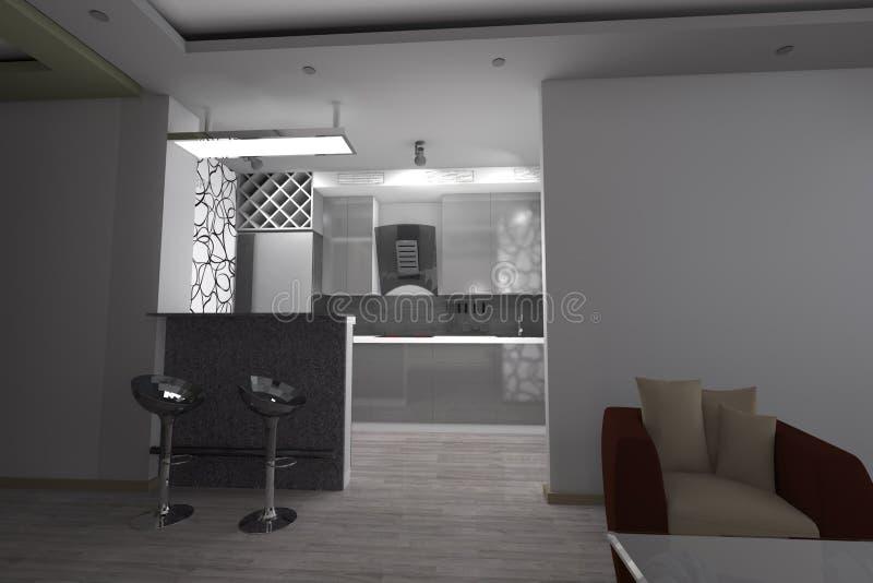 3D kuchenny projekt nowożytny ilustracji