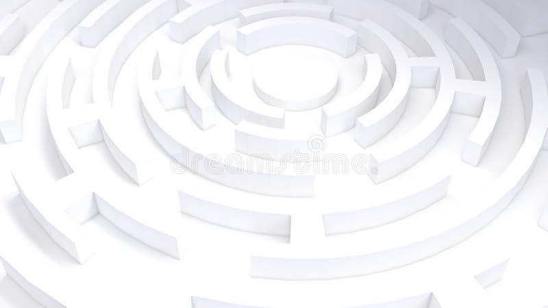 3D kurendy labirynt royalty ilustracja