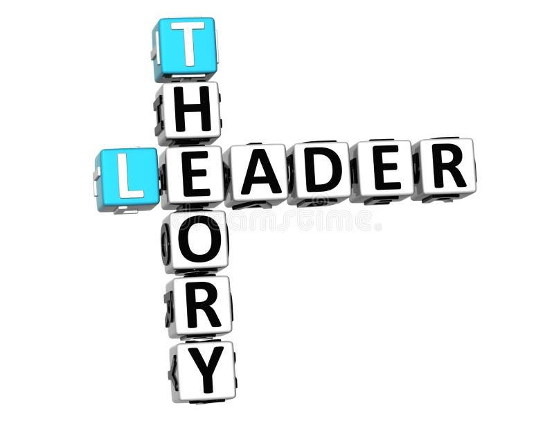 3D líder Theory Crossword ilustração do vetor