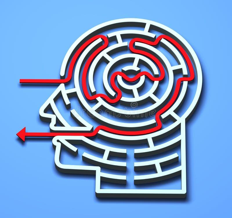 3d labyrint vector illustratie