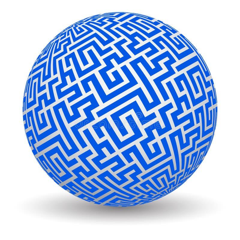 3d labyrintbol vector illustratie