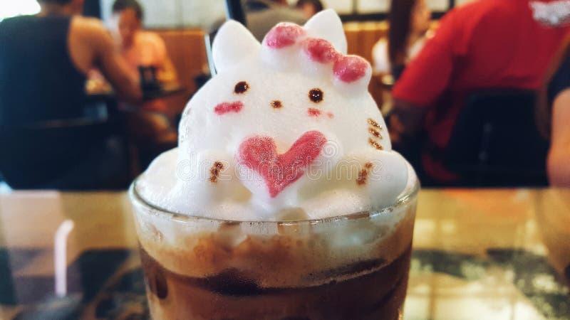 3D latteart. stock foto's