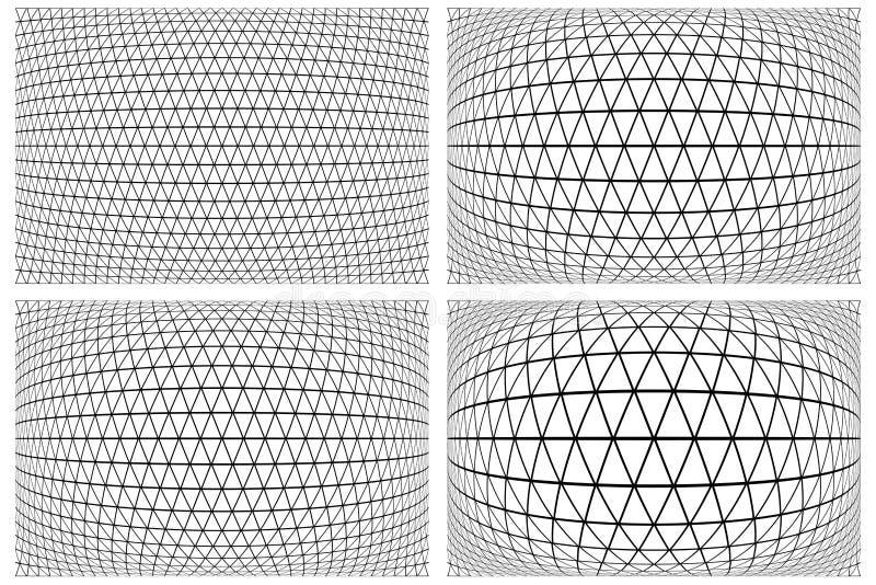 3D latticed modelluppsättningen royaltyfri illustrationer