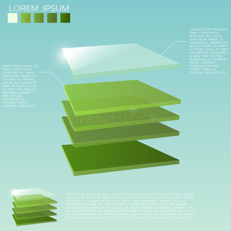3d layers background vector illustration