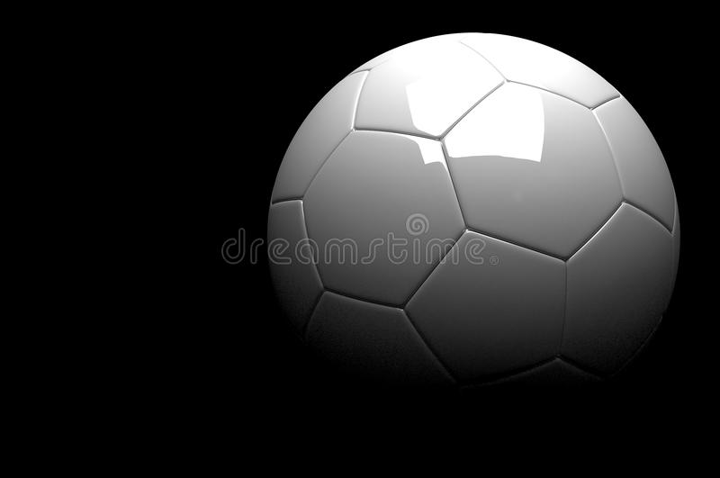3d le football, ballon de football images stock