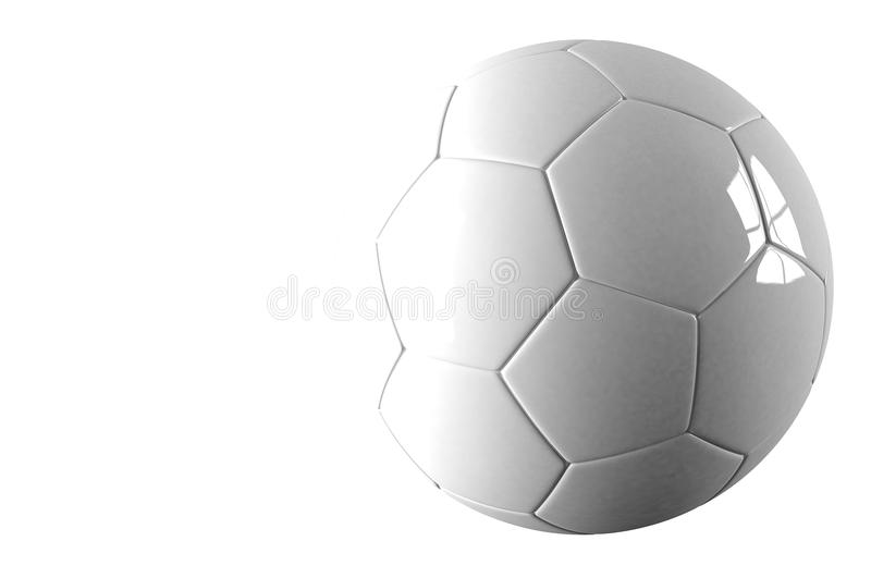 3d le football, ballon de football. D'isolement sur le fond image stock