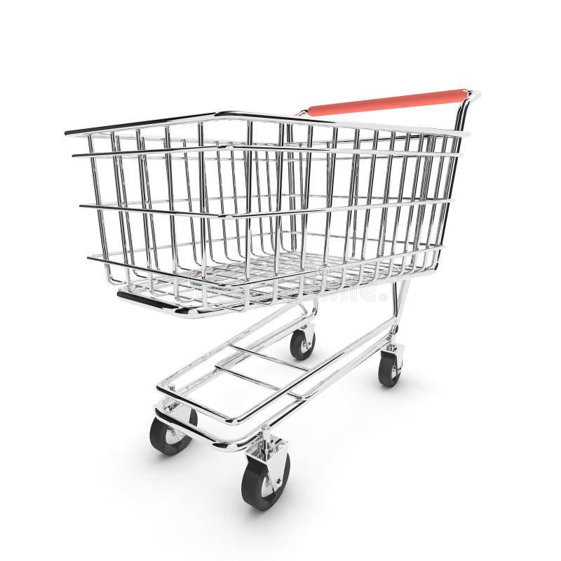 3d Leeg het winkelen karretje vector illustratie