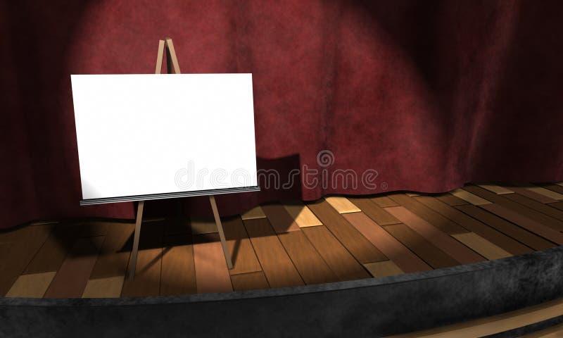 3d: Leeg Teken op Stadium vector illustratie