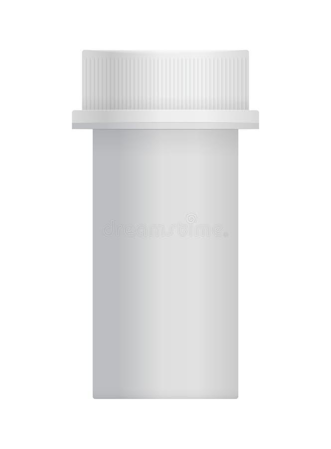 3d lege plastic kruik met GLB voor pil vector illustratie