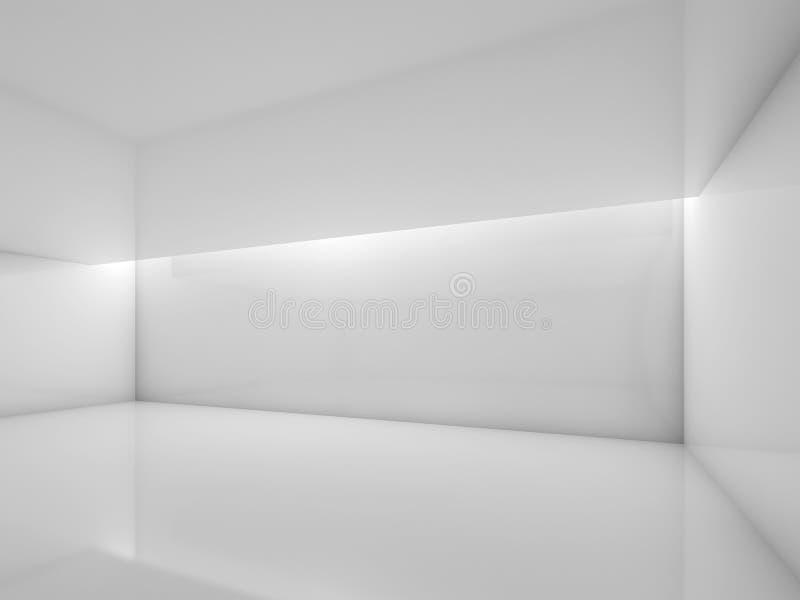3d lege ruimte met glanzende muren stock illustratie