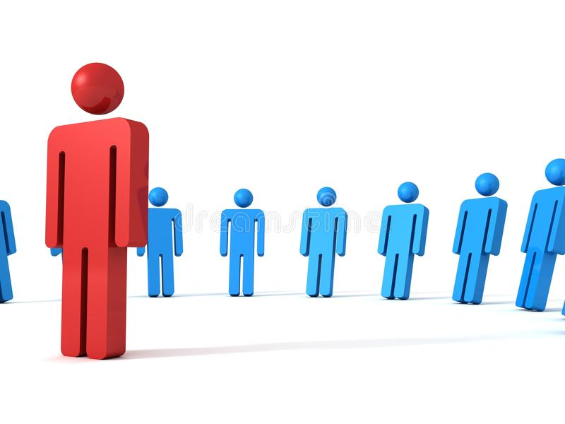 3d leiding van het persoonspictogram en teamconcept vector illustratie