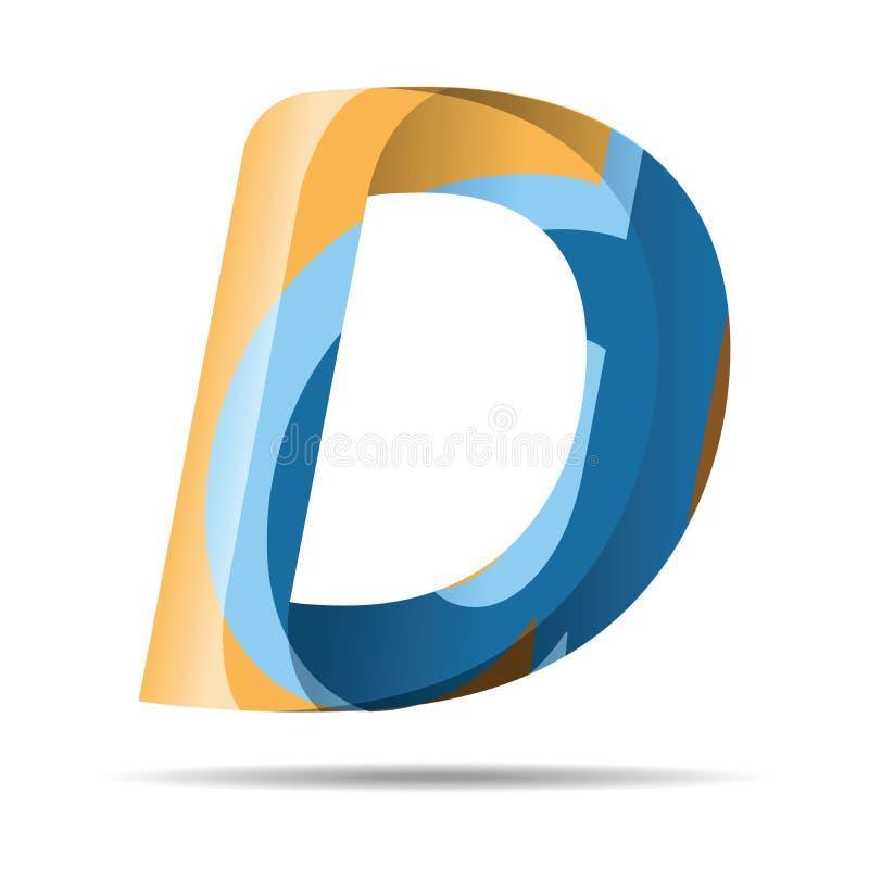 D Letter Colorful Modern alphabet logo. vector illustration