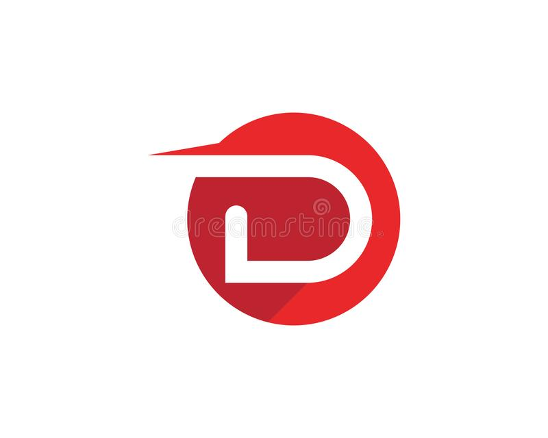 D Letter Logo Template. Vector icon design vector illustration