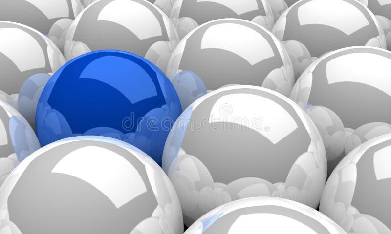 3D lidera sfery Ilustracyjny Błękitny pojęcie 2 ilustracji