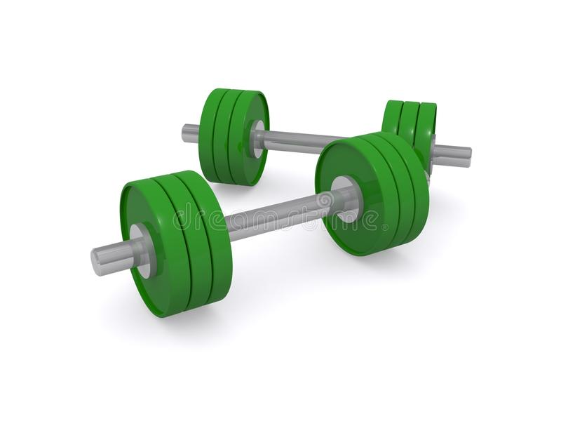 Download 3D lifting weights stock image. Image of lifting, illustration - 35359471