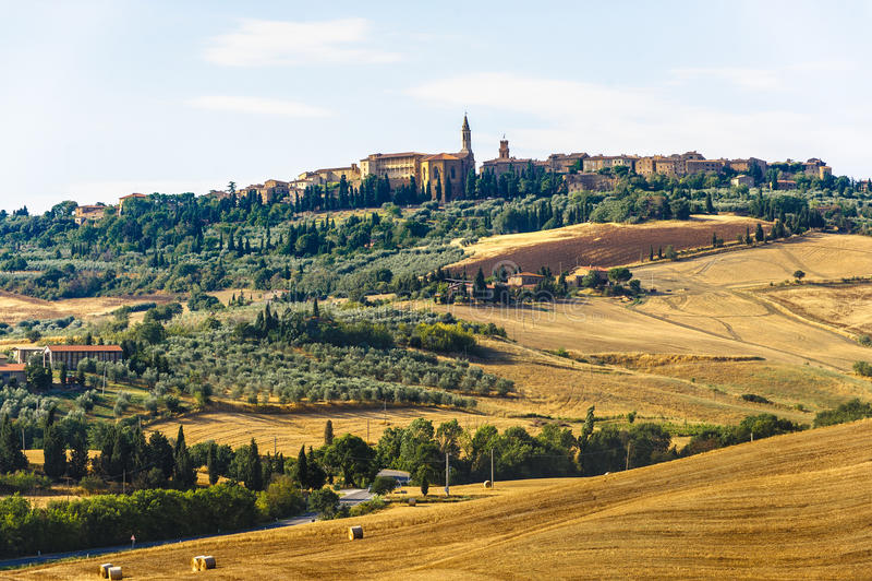 D-liggandeorcia val tuscany arkivbild