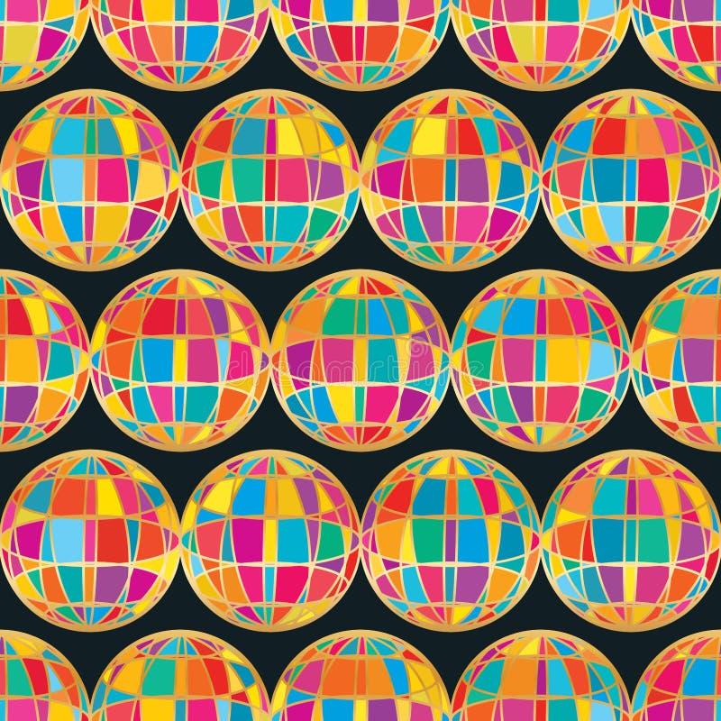 3d ligne globale modèle sans couture coloré illustration stock