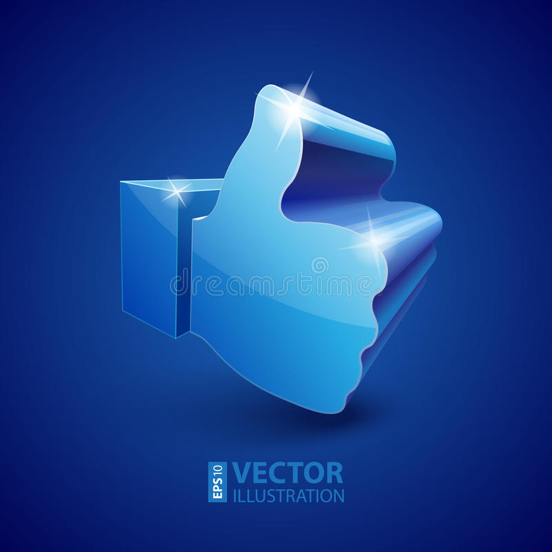 Download 3d Like symbol stock vector. Image of reflection, connection - 33455266