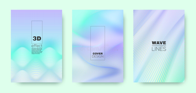 3d Line Banner. Wave Flow Poster. Cyan Vector. Background. Gradient Distorted Texture. Gradient 3d Line Banner. Wave Flow Cover. Cyan Modern Wallpaper. Cyan 3d royalty free illustration