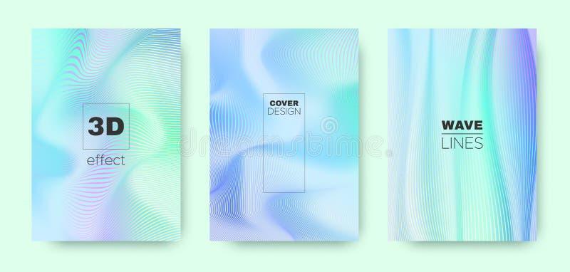 3d Line Banner. Wave Flow Poster. Green Modern. Wallpaper. Gradient Geometric Stripes. Gradient 3d Line Design. Wave Fluid Poster. Cyan Modern Wallpaper. Violet royalty free illustration
