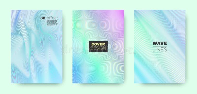 3d Line Banner. Wave Flow Shape. Violet Minimal. Wallpaper. Gradient Halftone Texture. Gradient 3d Line Design. Wave Flow Poster. Blue Modern Wallpaper. Blue 3d royalty free illustration