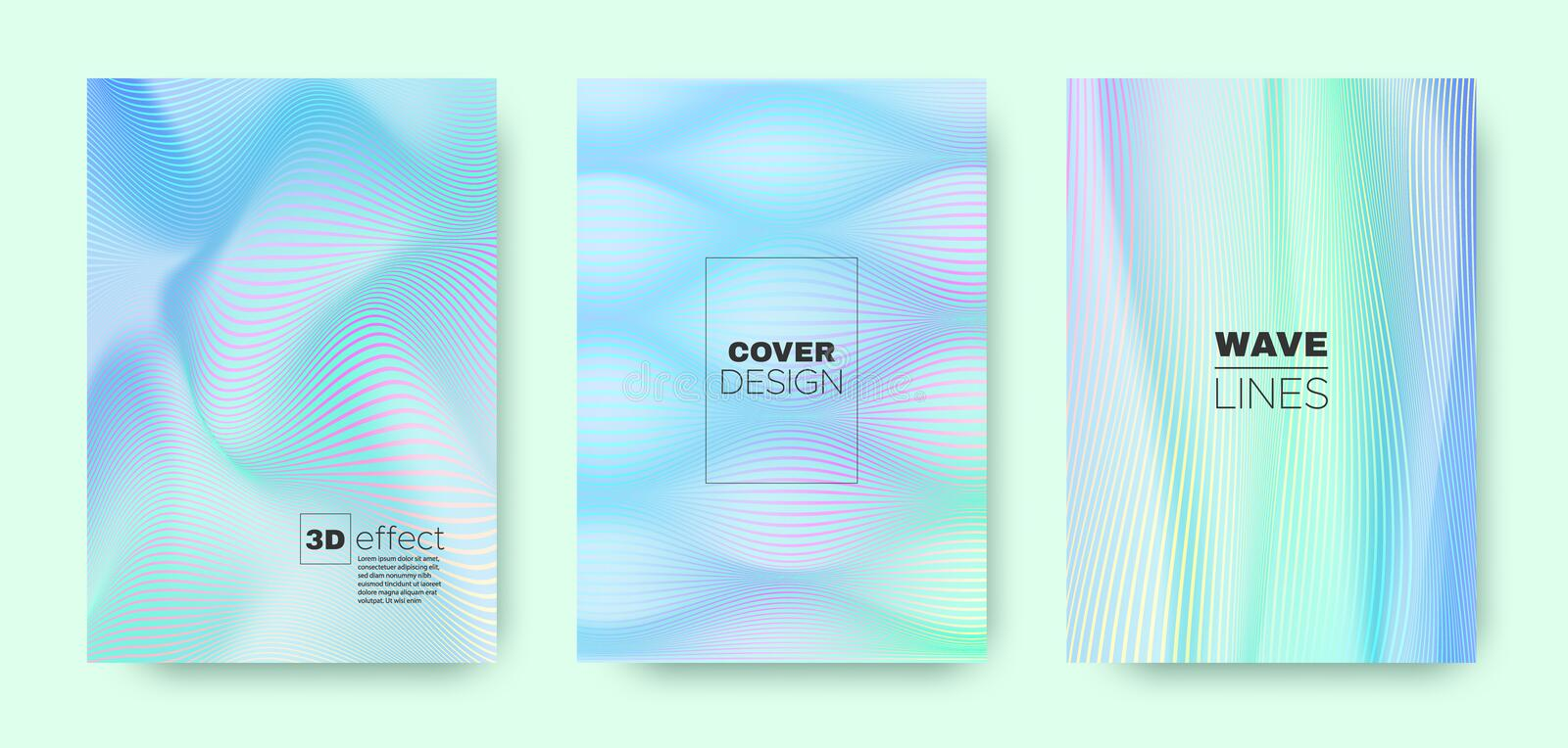 3d Line Design. Wave Flow Cover. Pastel Dynamic. Background. Gradient Distorted Texture. Gradient 3d Line Concept. Wave Flow Poster. Violet Dynamic Wallpaper royalty free illustration