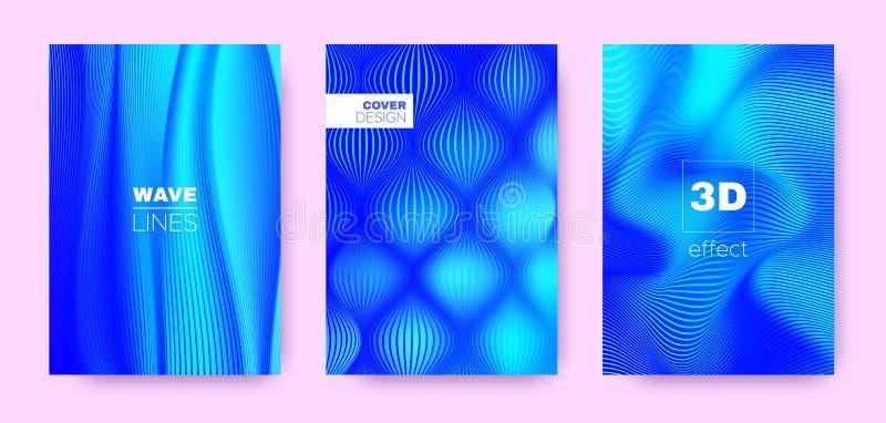 3d Lines Banner. Wave Flow Poster. Neon Modern. Background. Gradient Striped Pattern. Gradient 3d Lines Cover. Wave Fluid Banner. Neon Vector Wallpaper. Neon 3d vector illustration
