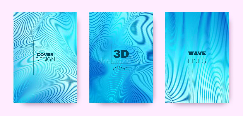 3d Lines Design. Wave Flow Shape. Neon Modern. Wallpaper. Gradient Distorted Texture. Gradient 3d Lines Shape. Wave Flow Banner. Neon Minimal Brochure. Blue 3d stock illustration