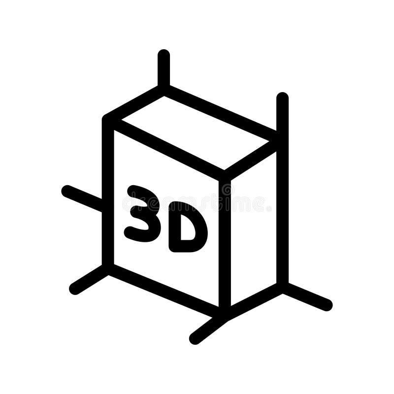 3D linha ícone do vetor ilustração do vetor