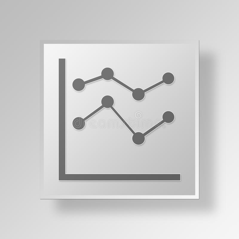 Download 3D Linie Diagramm Knopf-Ikonen-Konzept Stock Abbildung - Illustration von auslegung, internet: 90232363