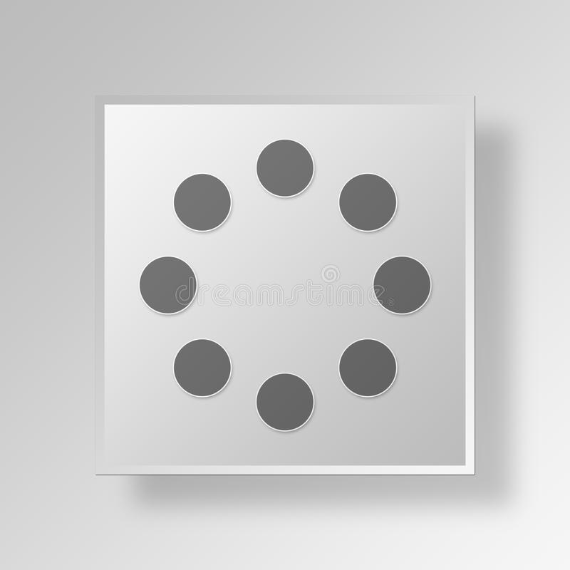 3d loading button icon concept stock illustration illustration of