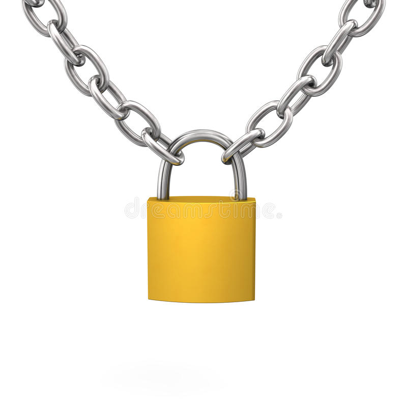 Download D-Lock Chain stock illustration. Image of safe, d, protection - 29778539