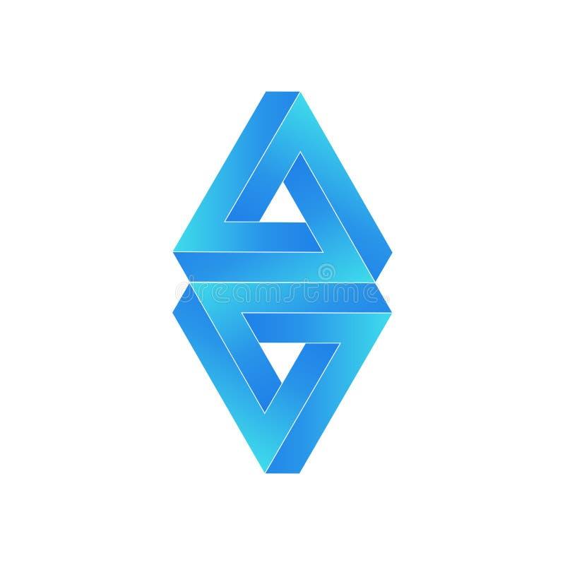 3D Logo Design, este logotipo é apropriado para a empresa global ilustração royalty free