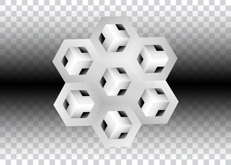 3D Logo Design, este logotipo é apropriado para a empresa, tecnologias do mundo, meios e agências de publicidade globais, ilustração stock