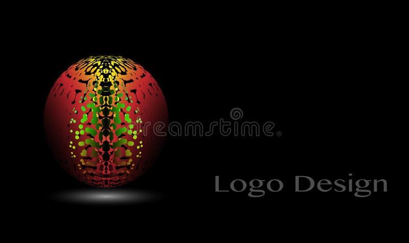3D Logo Design, este logotipo é apropriado para a empresa, tecnologias do mundo, meios e agências de publicidade globais ilustração stock